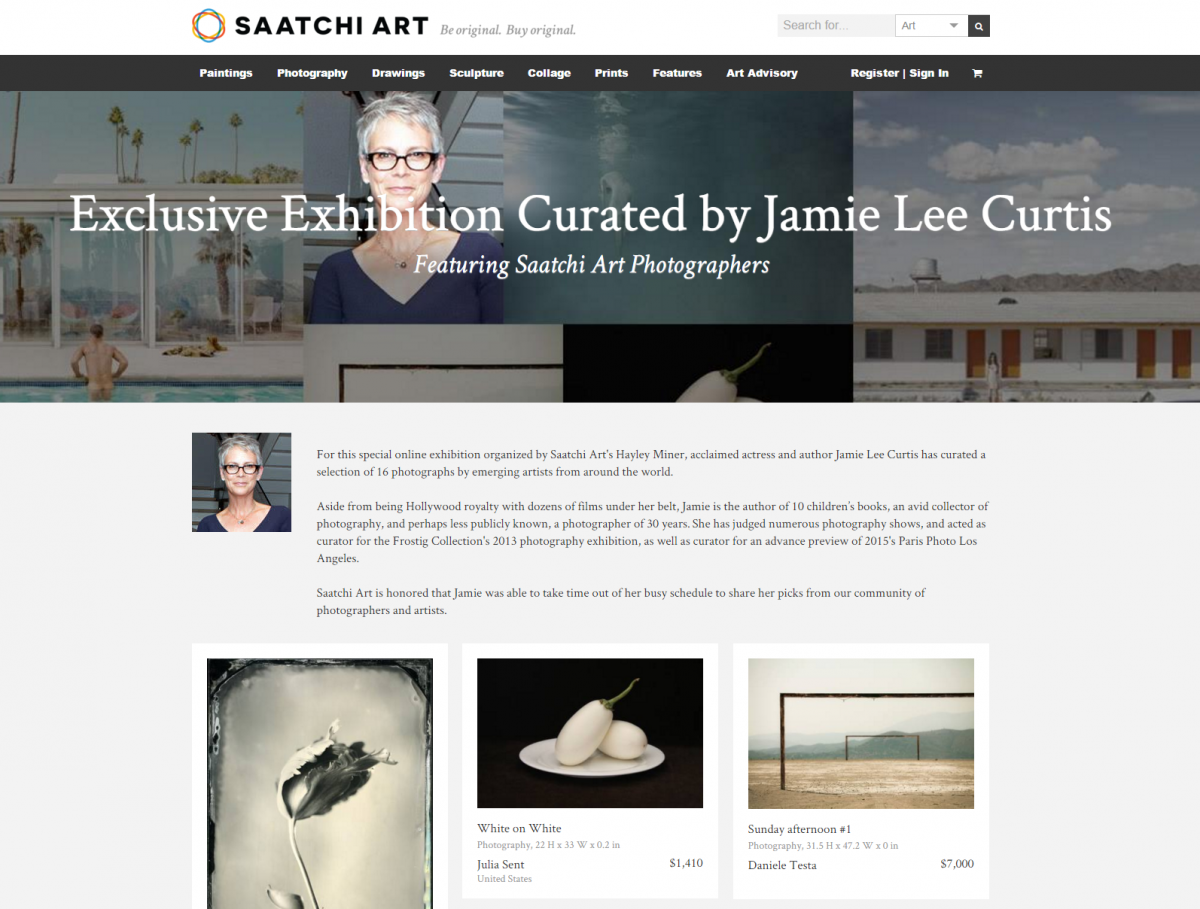 SAATCHI ART EXHIBITION CURATED BY JAMIE LEE CURTIS