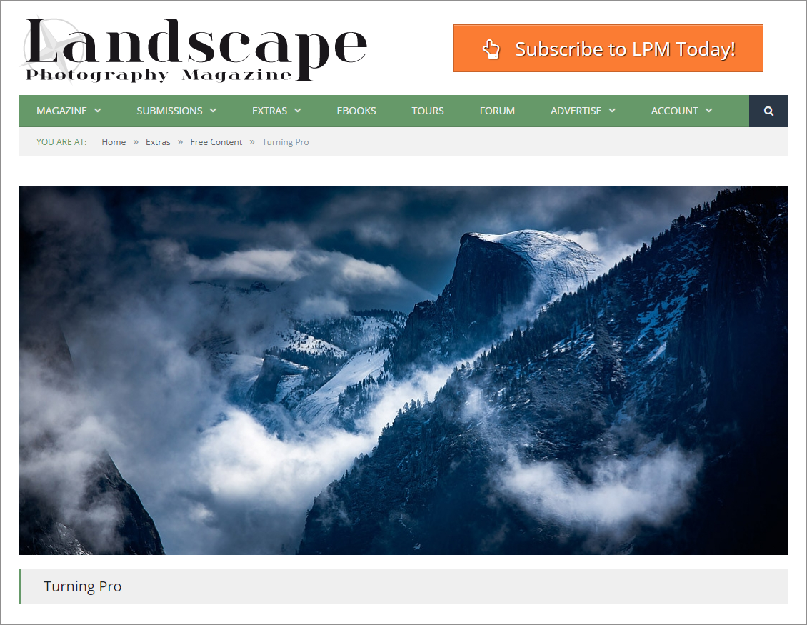LANDSCAPE PHOTOGRAPHY MAGAZINE FEATURE
