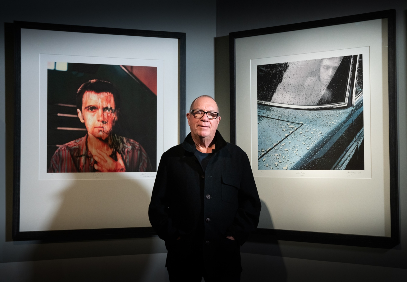 Aubrey Powell - Peter Gabriel Melt + Car  | 50 Years of Hipgnosis Exhibition Berlin